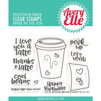 Avery Elle - Clear Stamp Set, Cool Beans, Leimasetti