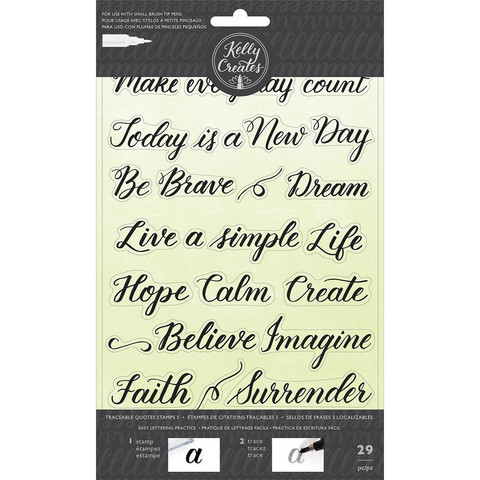 Kelly Creates - Acrylic Traceable Stamps, Quotes 3, Leimasetti