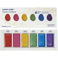 ZIG Kuretake Gansai Tambi Gem Colors, Japanilaiset vesivärit, 6väriä
