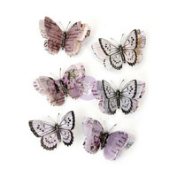 Prima Marketing - Lavender Vellum Butterflies, Aislinne