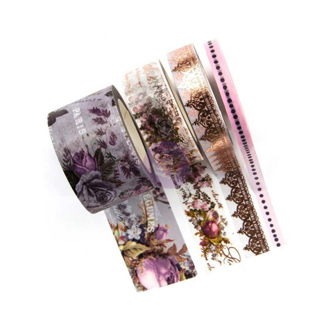 Prima Marketing - Lavender Decorative tape, 4 rullaa
