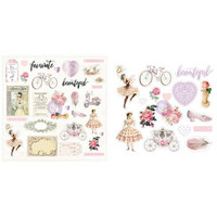 Prima Marketing - Love Story Ephemera Die-Cuts, 47 osaa