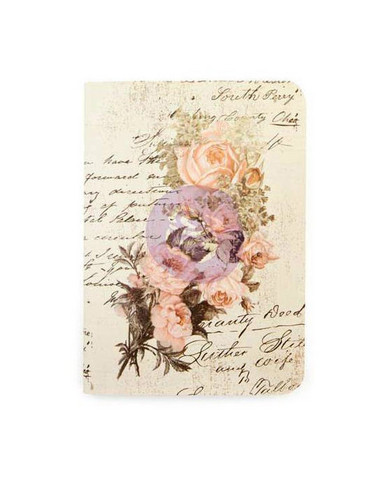 Prima Marketing - Prima Traveler's Journal Passport Notebook Refill, Dusty Roses