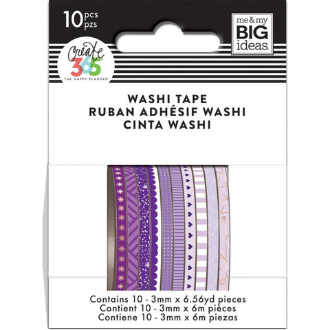 MAMBI - Happy Planner Skinny Washi, Purple Hues, Teippisetti