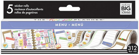 MAMBI - Happy Planner Sticker Roll, Menu, Tarrasetti