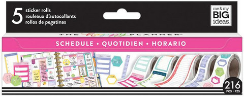 MAMBI - Happy Planner Sticker Roll, Scheduling, Tarrasetti