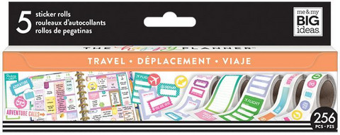 MAMBI - Happy Planner Sticker Roll, Travel, Tarrasetti