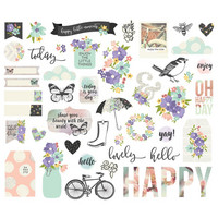 Simple Stories - Bliss Bits & Pieces Die-Cuts, 48 kpl