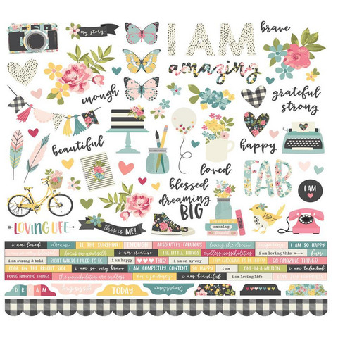 Simple Stories - I Am Cardstock Stickers 12