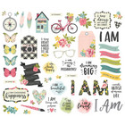 Simple Stories - I Am Bits & Pieces Die-Cuts, 53 kpl