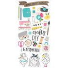 Simple Stories - Carpe Diem Crafty Girl Chipboard Stickers 6