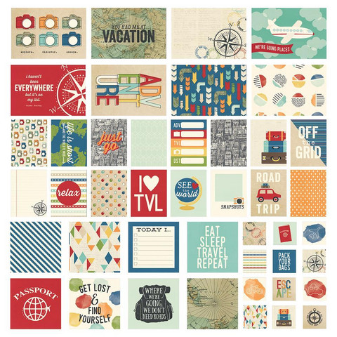 Simple Stories - Sn@p! Card Pack Travel Notes, 48 osaa
