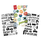 Simple Stories - Carpe Diem Travel Notes Clear Stickers, Tarrasetti, 3 arkkia
