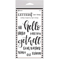 Ranger - Letter It Clear Stamp Set, Greetings, Leimasetti