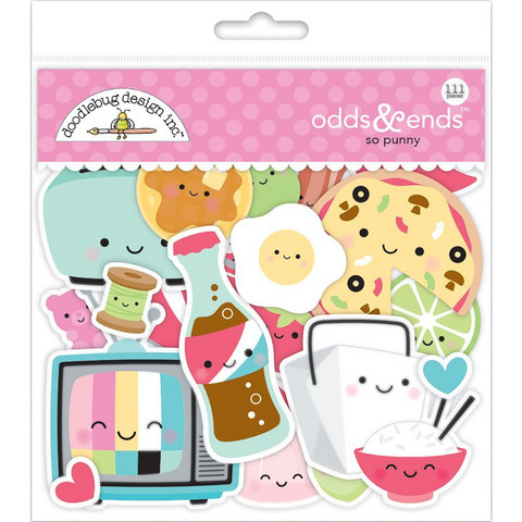 Doodlebug - Odds & Ends Die-Cuts, So Punny, 111 osaa