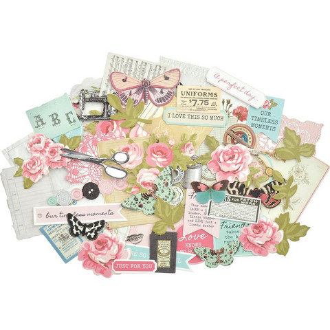 Kaisercraft - Miss Betty Collectables Cardstock Die Cuts, 58 osaa