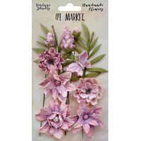 49 and Market - Vintage Shades Cluster, Orchid, Paperikukkasetti