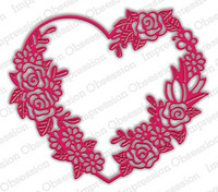 Impression Obsession - Floral Heart Frame, Stanssi