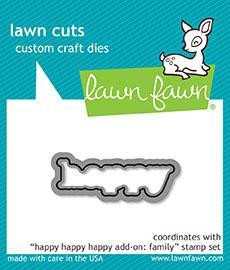 Lawn Fawn - Happy Happy Happy Add-On Family, Stanssi
