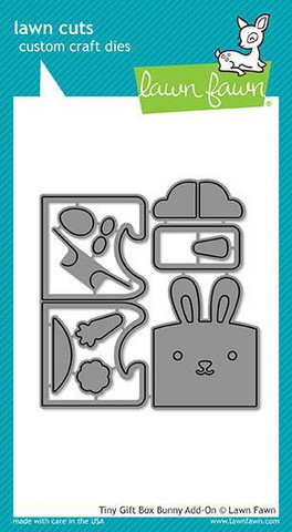 Lawn Fawn - Tiny Gift Box Bunny Add-On, Stanssisetti
