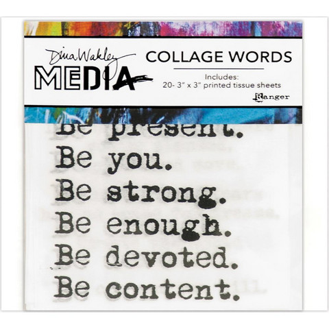 Dina Wakley Media - Collage Word Pack