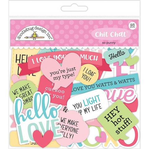 Doodlebug - Odds & Ends Die-Cuts, So Punny Chit Chat, 93 osaa