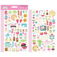 Doodlebug - So Punny Icons Mini Cardstock Stickers, 2 arkkia