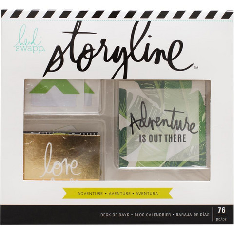 Heidi Swapp - Storyline2 Deck Of Days, Adventure, Tarrasetti, 76 osaa