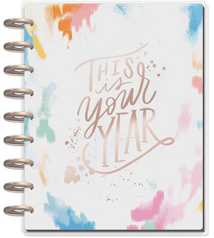 MAMBI - Happy Planner CLASSIC 2018 - 2019, Brushy Brights