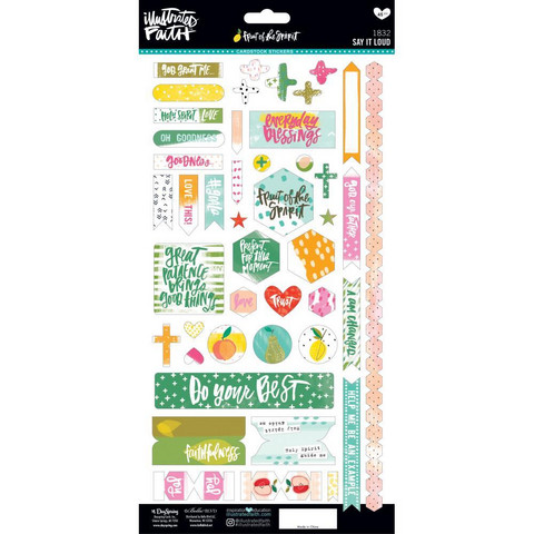 Illustrated Faith - Fruit Of The Spirit Cardstock Stickers, Say It Loud