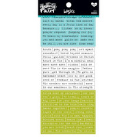 Illustrated Faith - Basics Cardstock Sticker Booklet, Words, Tarrasetti
