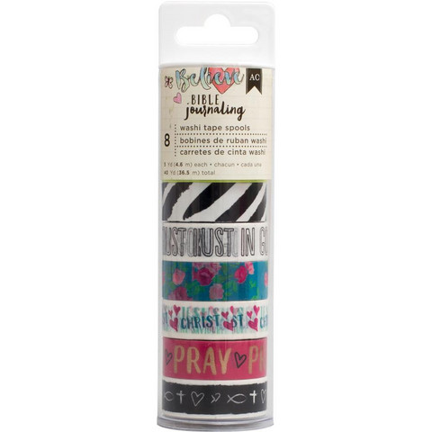 American Crafts - Bible Journaling Washi Tape, Edgy, Teippisetti