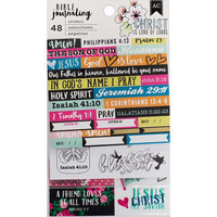 American Crafts - Bible Journaling Stickers, Edgy, 48 osaa