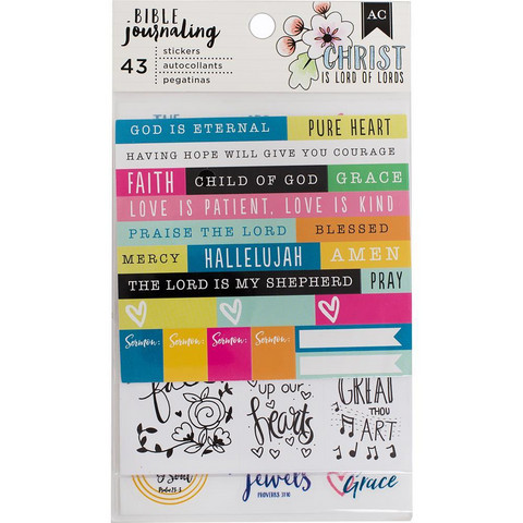 American Crafts - Bible Journaling Stickers, Trendy, 43 osaa