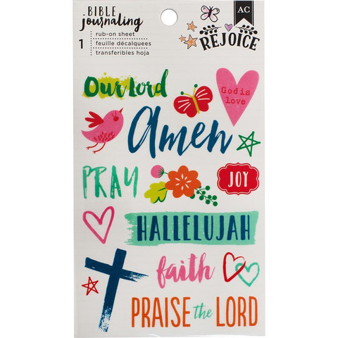 American Crafts - Bible Journaling Rub-On, Hallelujah
