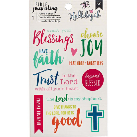 American Crafts - Bible Journaling Rub-On, Blessing