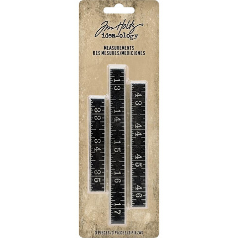 Tim Holtz - Idea-Ology Metal Ruler Measurements, .5