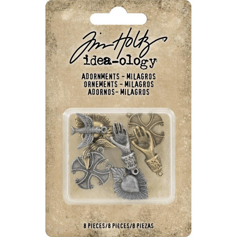 Tim Holtz - Idea-Ology Metal Adornments, Milagros, 8 kpl