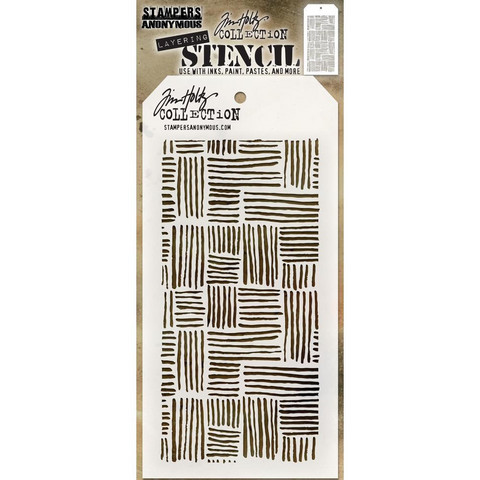 Tim Holtz - Layered Stencil, Thatched
