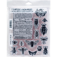 Tim Holtz - Cling Stamps, Entomology, Leimasetti