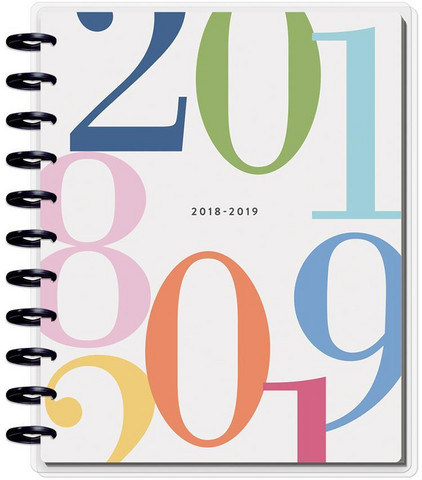 MAMBI - BIG Happy Planner 18-Month Dated Planner, Colorblock Type HORIZONTAL