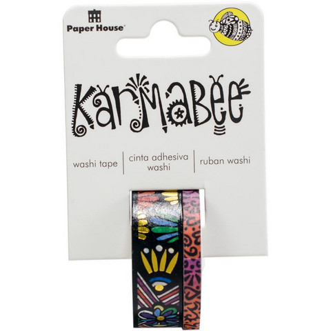 Paper House - Washi Tape, Tribal Pattern By Karmabee, Teippisetti, 2 rullaa