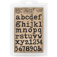 Tim Holtz - Cling Foam Stamps, Type Lowercase Alpha, Leimasetti