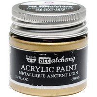 Prima Marketing - Finnabair Art Alchemy Acrylic, Metallique Ancient Coin