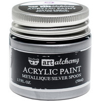 Prima Marketing - Finnabair Art Alchemy Acrylic, Metallique Silver Spoon