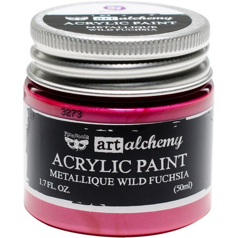 Prima Marketing - Finnabair Art Alchemy Acrylic, Metallique Wild Fuchsia