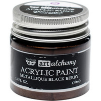 Prima Marketing - Finnabair Art Alchemy Acrylic, Metallique Black Berry