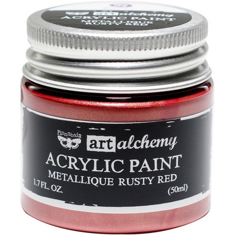 Prima Marketing - Finnabair Art Alchemy Acrylic, Metallique Rusty Red