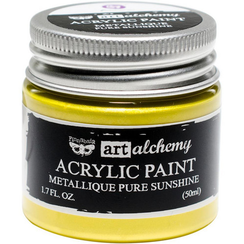 Prima Marketing - Finnabair Art Alchemy Acrylic, Metallique Pure Sunshine