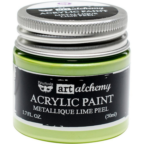 Prima Marketing - Finnabair Art Alchemy Acrylic, Metallique Lime Peel